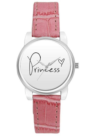 Princess Pink Strapped Watch