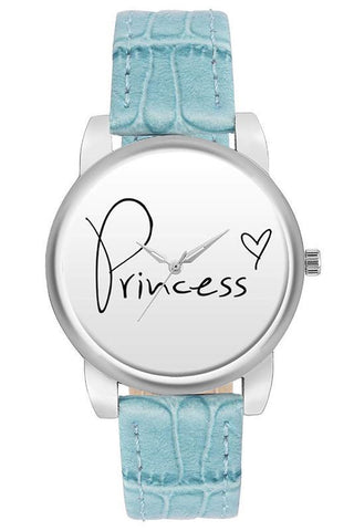 Princess Blue Strapped Watch