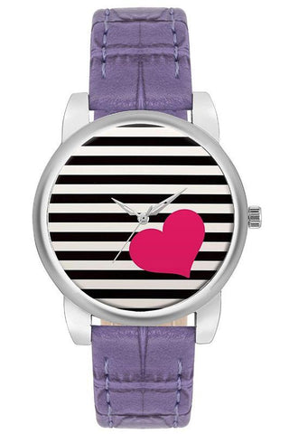 Analogue Striped Dial Girl's Watch