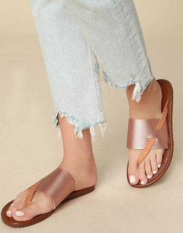 Glimmering Rose Gold Flats