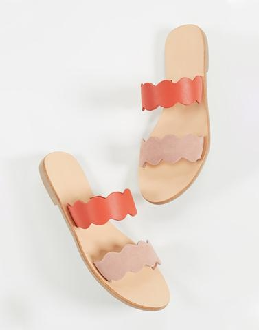 Peach Waved Flats
