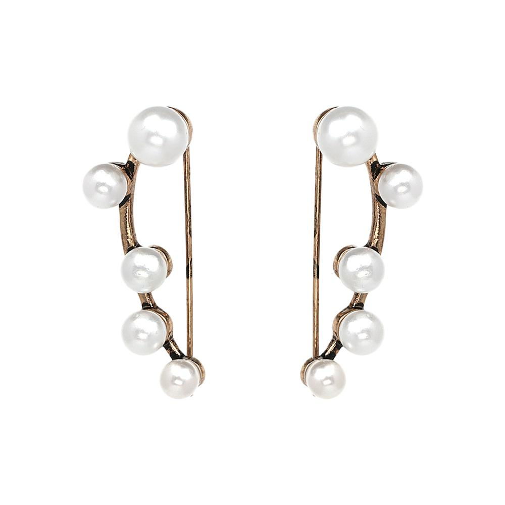 Bauble Pearl Earcuff In Pair