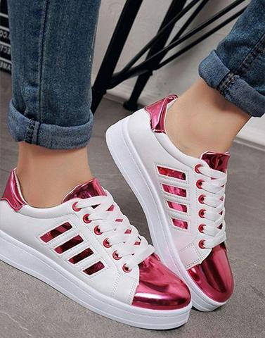 Pink & White Dual Sneakers
