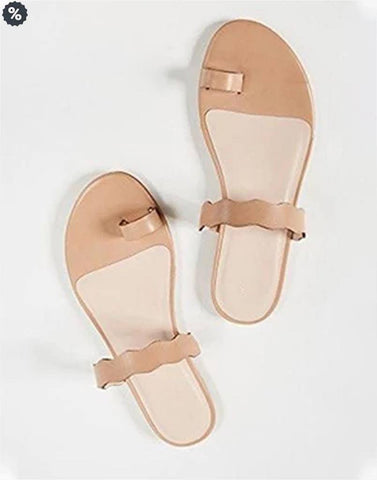 Minimally Nude Flat Sandals