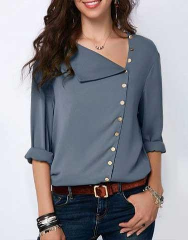 Drop Neck Work Wear Top