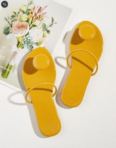 Abstract Yellow Modern Footwear