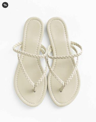 Braided Cream Flats
