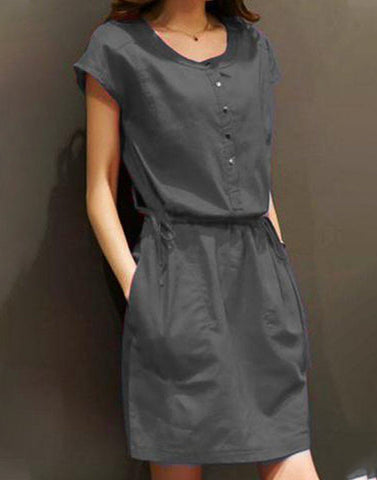 Grey Hot Ravel Dress