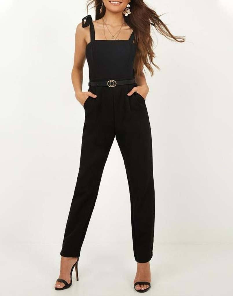 Dark Days Black Jumpsuit Without Belt