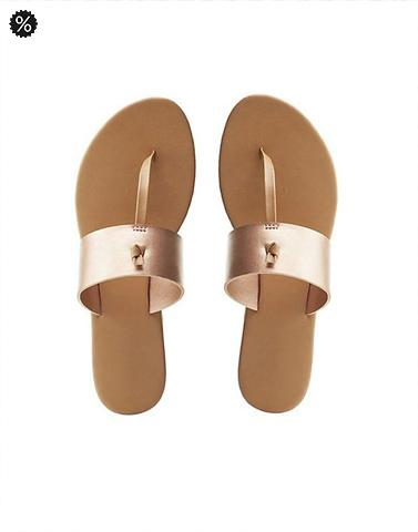 Neutral Rose Gold Kohlapuri Flats