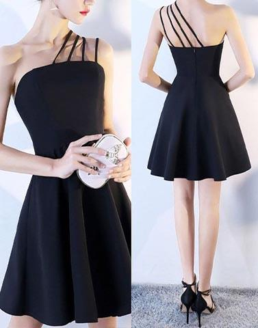 Night Out Black Skater Dress