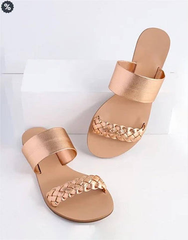 Color Me Copper Flat Sandals