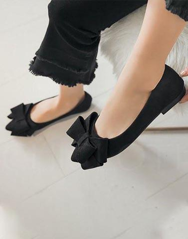 Buy Me Bows Black Ballerinas