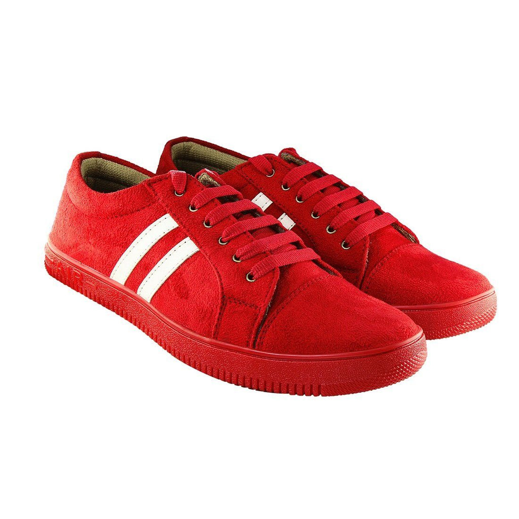 Blinder Red Suede Casual Sneakers Shoes For Men