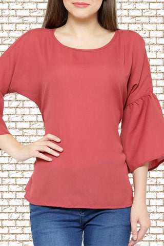 Bow Tie Back Rust Top