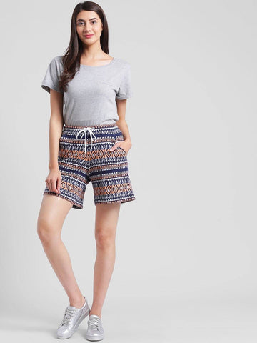Multi Textured Terry Shorts