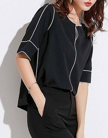 Monochrome Work Wear Top