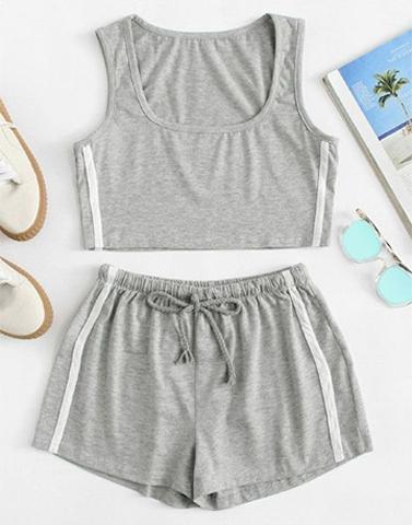 Sidekicks In Grey Nightwear Set