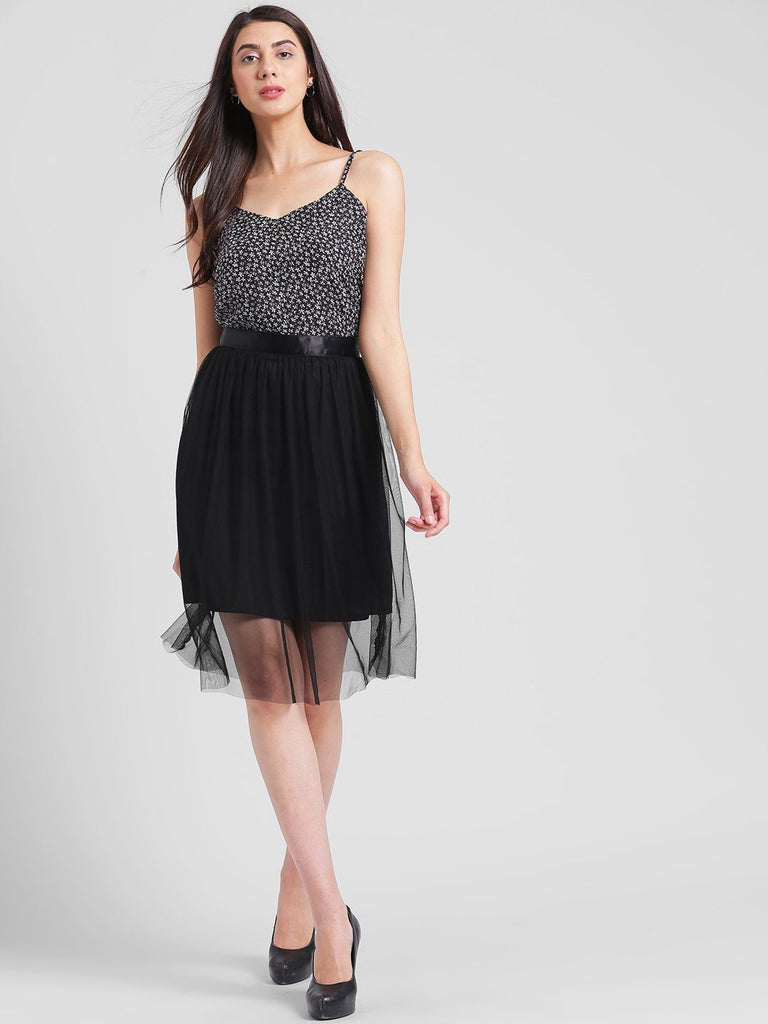 Black Mesh Tulle Skirt
