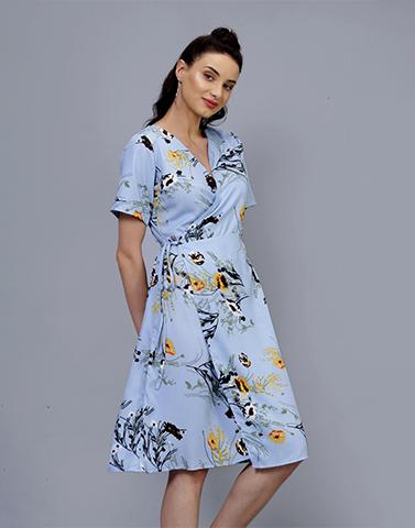Dancing Daisies Blue Day Dress