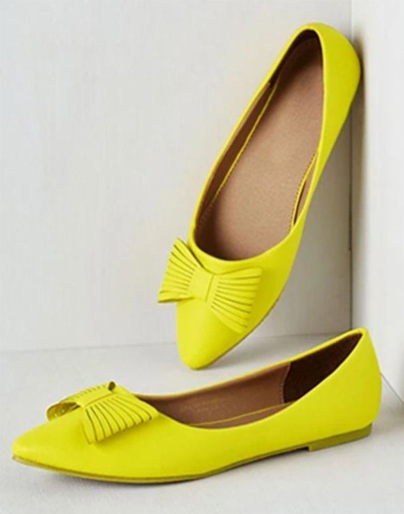 Bright Neon Cut-Out Flats