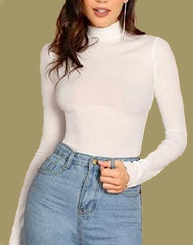 Winter White Turtleneck Top