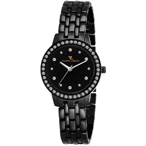Black Stainless Steel Diamond Polished Watch