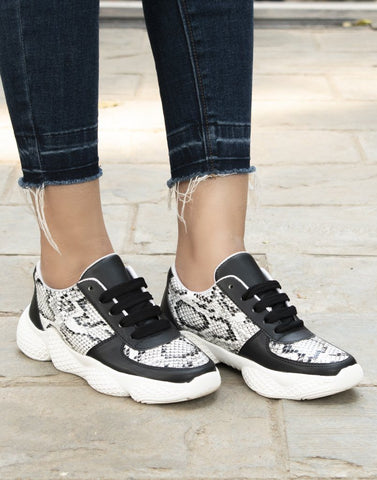 Monotone Magic Printed Sneakers