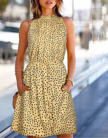 Dotted Beige Dress