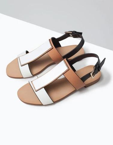 Color Block Simple Sandals