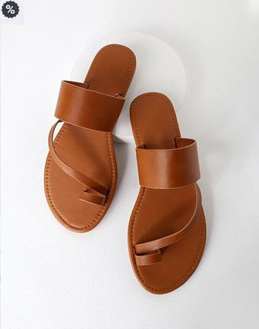 Caramel Brown Indo-Western Flats