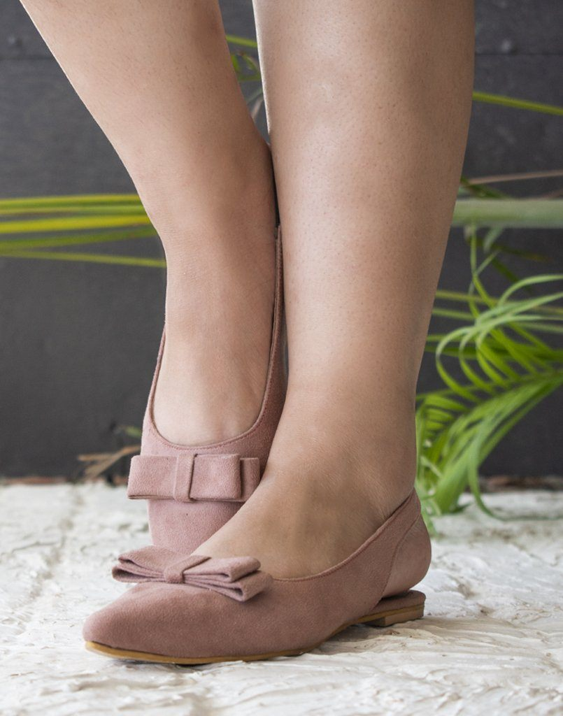 Pastel Pink Pointed Toe Ballerina