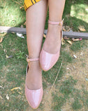 Retro Casual Pink-Grey Ballerina