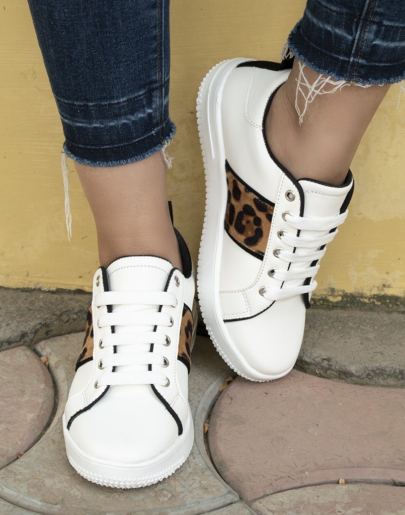 Stay Savage White Sneakers