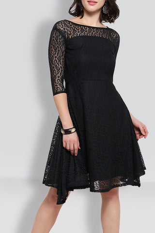 Black  Knee Length Dress