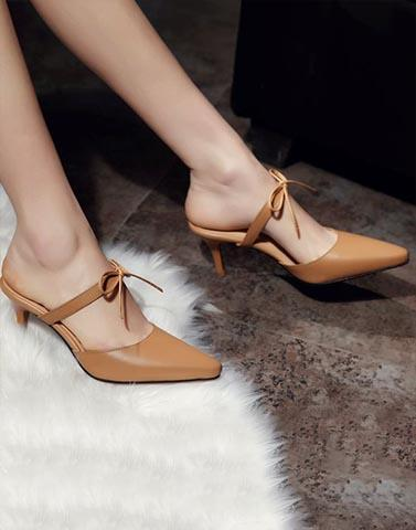 Brown Beauty Pencil Heels