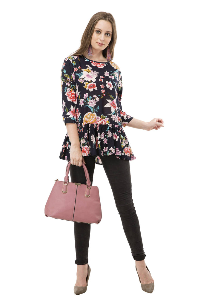 Glamour Floral Printed Rayon Top