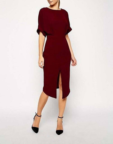 Maroon Mornings Formal Dress