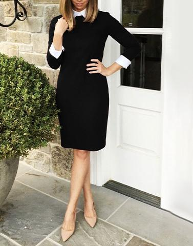 Stately Black Shift Dress