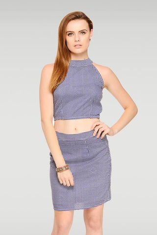 Checker Midi Skirt Set