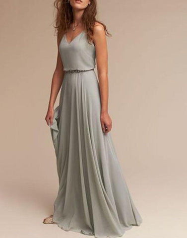 Steel Blue Bridesmaid Dress