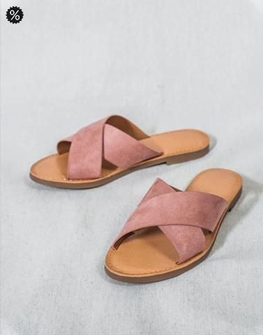 Dusty Pink Casual Flats