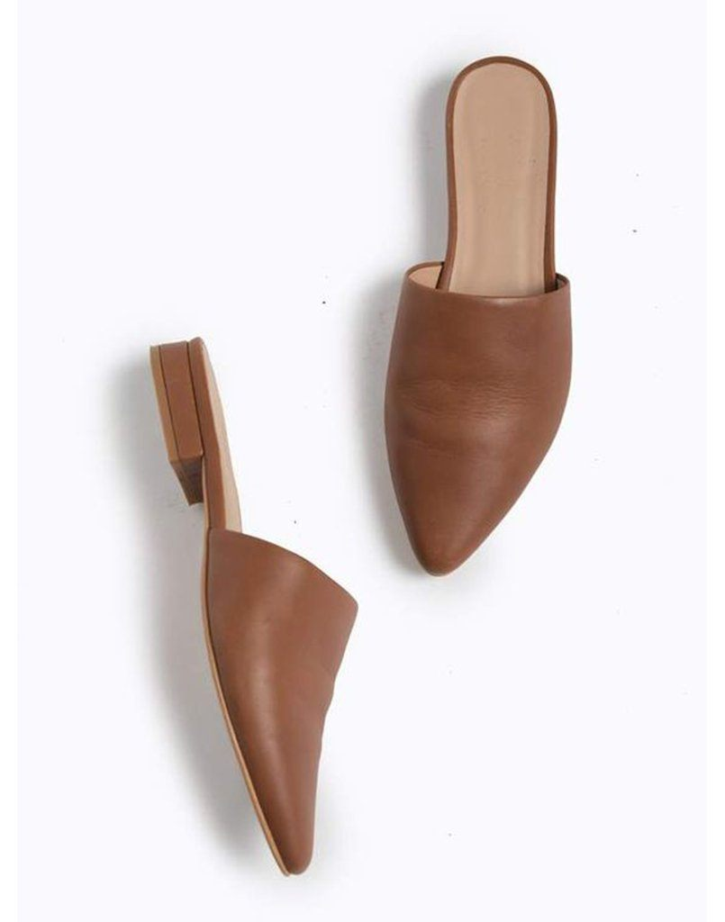 Dipped In Tan Basic Mules