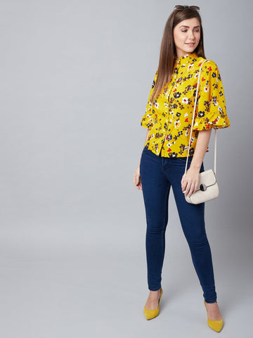 Floral Fairy Yellow Top
