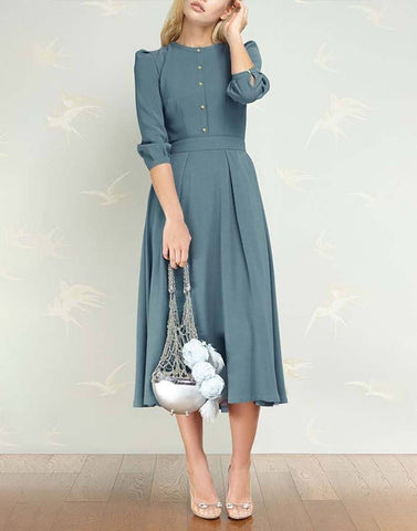 Vintage Grey Graceful Dress