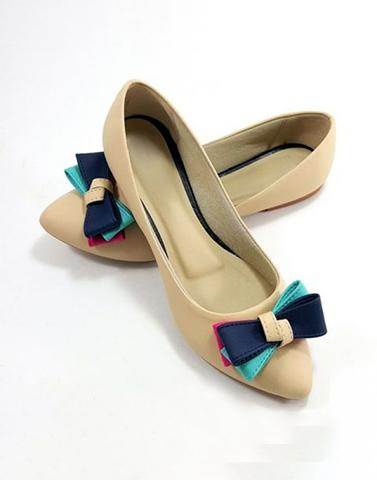 Multicolored Muse Bow Ballerinas