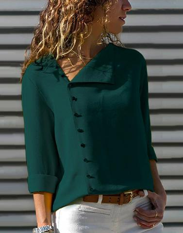Button Up Chic Green Top