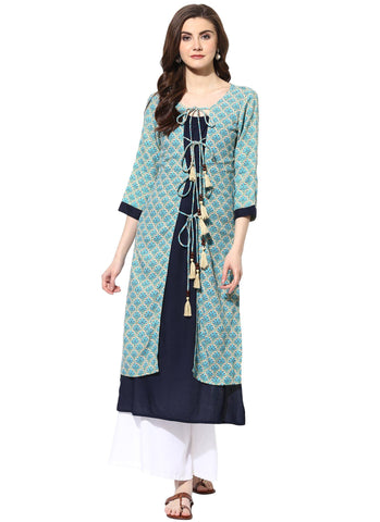 Rayon Printed Layered Kurtas