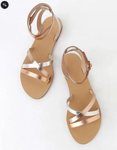 Divine Shine Rose Gold Flats