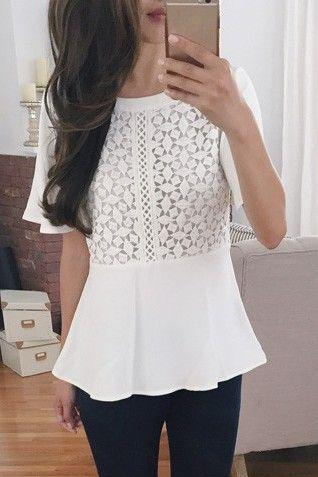Scoop Neck White Top
